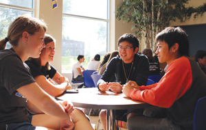 Ordinaire Students At Conversation Tables In The Nebraskan Student Union