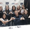 Courtesy Photo Members of Alpha Omicron Pi Sorority took an opportunity to pose with the Bachelor from season 17, Sean Lowe, and his now wife, Catherine Giudici, at the Tri-City Storm hockey game Saturday night.