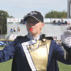 """Photo by Keysha Foulk """"My favorite thing about being a drum major is getting to go around and being able to work with all the sections,"""" said Andrea Hesterman, a Grand Island native. Hesterman is a fifth-year senior studying organizational communications."""