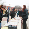 Students were surprised with free donuts, hot chocolate and cider last Wednesday at Mortar Board's Fuel Around the Fountain event. Mortar Board hosts the event every year to give students a treat during the end of the semester.
