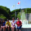Courtesy Forgey and friends visited Okurayama Ski Jump Stadium used in the 1972 Winter Olympics. They found they could use the ski jump hill during summer and joined a tour to the stadium as well as to a nearby lavender garden.