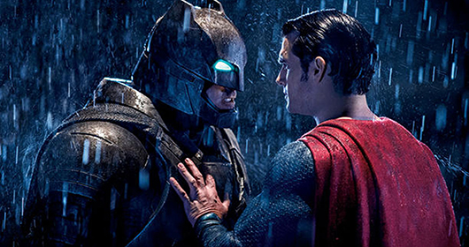 "Batman and Superman clash in ""Batman v Superman: Dawn of Justice.""  Check out the movie at Kearney Cinema 8."