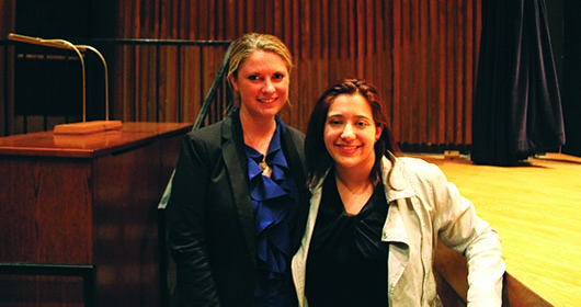 "Annie Clark (LEFT) and Andrea Pino are co-founders of End Rape on Campus, subjects of the film ""The Hunting Ground,"" and co-authors of the book We Believe You: Survivors of Campus Sexual Assault Speak Out."