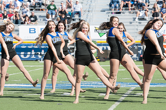 The Sapphires wowed the halftime crowd.