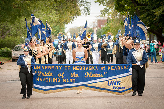 The Pride of the Plains marching band thrilled the parade crowd.