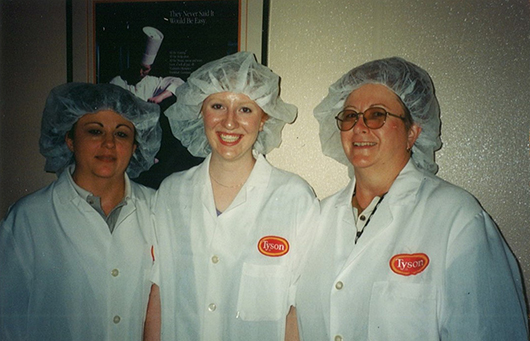 Courtesy Janice Woods enjoyed co workers at her internship with Tyson at the company headquarters in Arkansas as a sophomore in college.